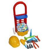 carucior-cu-trusa-unelte-handy-tommy-18-piese-ucar-toys